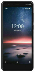 Nokia 3.1 A - 32GB - Black AT&T Prepaid Smartphone Factory Sealed NEW