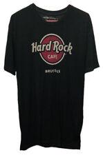 Hard Rock Cafe Brussels Men's Smokey Dark Gray T-Shirt Mens XL Authentic