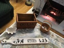 Primitive Vintage Style Halloween Wood HP Fanny Paddle Wicked Witch Ouija OOAK