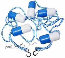 16' Feet Swimming Pool Safety  Rope & Float Divider Line with Stainless Hook