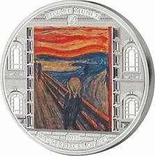 Cook Islands 2018 20$ Masterpieces of Art - SCREAM Edvard Munch 3oz Silver Coin