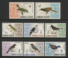 Samoa 1967 Collection 8 Bird Stamps (Inc High Values) Unmounted Mint