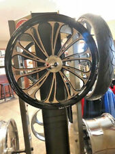 """21"""" FRONT WHEEL PACKAGE HARLEY TOURING Outlaw Accelerated Contrast Wheel"""