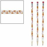 Pack of 12 - Gingerbread Pencils with Erasers - Christmas Party Bag Fillers