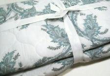 Pottery Barn Blue Motif Shani Floral Tile Reversible Full Queen Coverlet New