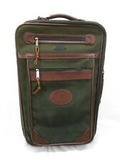 Orvis Canvas Battenkill Rollacase Luggage Travel Bag Carry On Green Leather X11