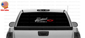 The Heartbeat of America Chevy Decal Sticker Red Bowtie CHEVROLET (Select Color)