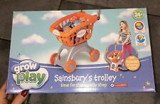 Grow & Play Kids/Childrens Shopping Trolley Play Set + Shopping Basket & Fruit
