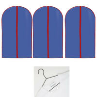 3 Pcs 54-inch Garment Bag For Suit Dress Shirt Suit Gown Storage Travel Storage