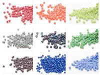 7.5 grams Miyuki Delica 11/0 glass seed beads round All OPAQUE Matte Rainbow