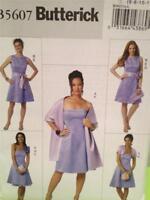 Butterick Sewing Pattern 5607 Ladies Misses Dress Slip Sash Size 14-22 Uncut