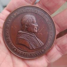 RAR! Große Vatikan 1877 Papst PIUS IX Bronze Medaille (Ferretti / Speranza)