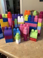 Mega Bloks/Kids Work 175 Piece Building Blocks Set 2017 Slightly Used