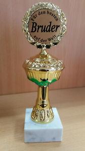 Geschenk Pokal ,Für den besten Bruder ca. 22,5 cm Fun Award