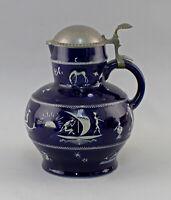 99845594 Porcellana Lanciatore Rilievo Westerwald Brocca di Schenk Art Deco Alt
