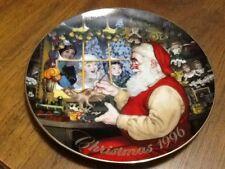 "1996 ""Santa's Loving Touch"" Avon Plate Santa In His Workshop"
