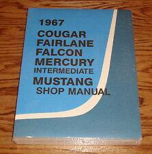 1967 Ford Mercury Cougar Fairlane Falcon Mustang Shop Manual 67