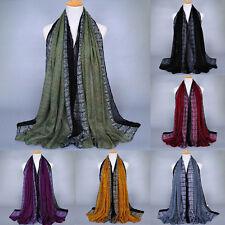 Women's Long Snakeskin Grain Cotton Scarf Wrap Ladies Shawl Large Scarves Hijab