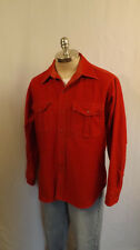 Vtg Eddie Bauer Soft Cotton Chamois Shirt Sz Lrg Burnt Orange