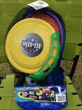 5 IN 1 GAME SET IN BACKPACK MESH BAG - MINI SOCCER-BADMINTON-FRISBEE AND MORE