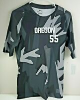 Nike Oregon Ducks Compression Training T-Shirt Men's Large Tee Gray Camouflage