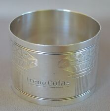 French Antique Art Deco Sterling Silver Napkin Ring, French Table