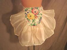 Vintage Half  Apron ORGANDY Pocket Pouch Hostess CUTE Floral