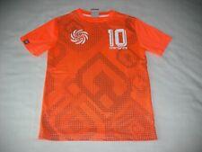 Carbrini boys bright neon orange short sleeve football sports top 8-10 years