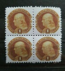 US Stamps SC #112 1969 1C Franklin Block Replica Place Holders
