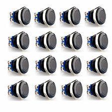 20pcs Black 16mm Anti-Vandal Momentary Push Button Switch car/door bell speakers