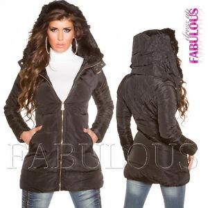 New Ladies Women's Warm Winter Jacket Coat Outerwear Size 6 8 10 12 14 S M L XL