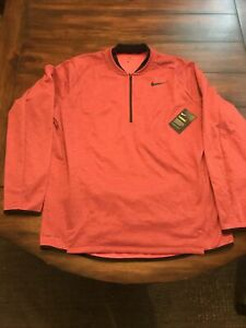 NWT Mens XL Nike Golf Therma Fit Half Zip Red Pullover NWT 854349 653