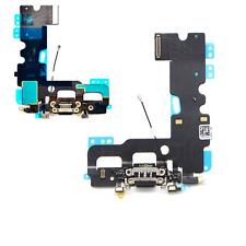 """Iphone 7 (4.7"""") Unidad De Carga Negro Muelle Port & micrófono y auriculares Jack Flex Cable"""