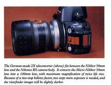Nikonos Rs Underwater camera body w/ 50mm Lens and Rare 2x Teleconverter