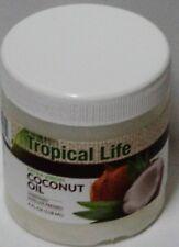 1 TROPICAL LIFE Extra Virgin COCONUT OIL Unrefined 4 fl oz (118ml) Each Sealed