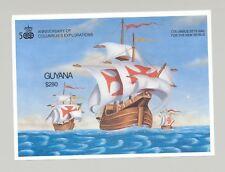 Guyana #2533 Ships, Columbus 1v S/S Imperf Proof