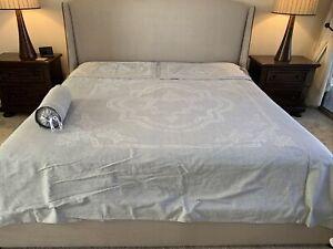 RESTORATION HARDWARE ITALIAN BAROQUE MEDALLION King Duvet, 2 Shams & 1 Pillow