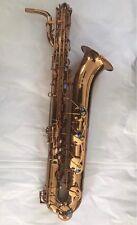 Professional Eb Baritone Saxophone Gold body Gold Key Low A +case