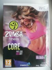 Wii Zumba Fitness Core Nintendo With Fitness Belt, New and Sealed in Box