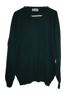 Vtg Pringle Of Scotland 97% Merino 3% Cashmere Green sweater mens XXL/2XL