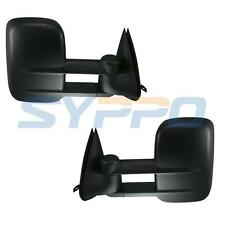 For 99-02 Chevy Silverado GMC Sierra Towing Telescoping Mirrors Set POWER HEATED