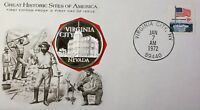 1972 Virginia City NV Great Historic Sites Medal Proof Silver First Day Cover