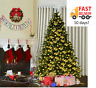 Costway 7.5Ft Pre-Lit Artificial Christmas Tree Hinged w/ 540 LED fast delivery!