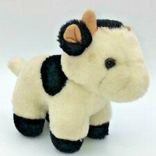 "VINTAGE IKEA BLACK WHITE CALF COW BABY SOFT PLUSH TOY 7.5"""
