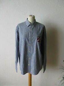 Tommy Hilfiger Herren Hemd Gr. M blau-weiß gestreift langarm