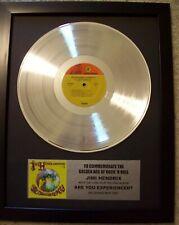 Jimi Hendrix Are You Experienced Platinum White Gold Lp Record + Mini Album Disc
