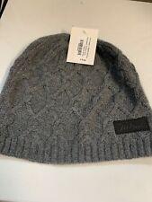 NEW Women's Titleist Premium Cashmere Charcoal Grey Winter Beanie Hat $70 Reg