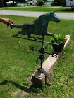 Antique Galloping Horse Weathervane with Directional Compass