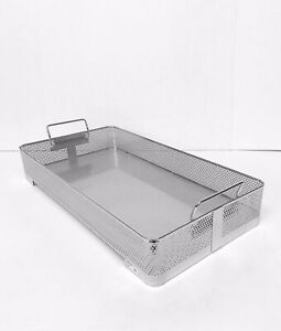 GENESIS Sterilization Full Length Basket BP3-3A Perforated Stainless Steel Tray