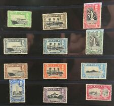 .St LUCIA 1936 FULL SET of 12 KGV MINT NH / VLH STAMPS. 1/2d to 10/-